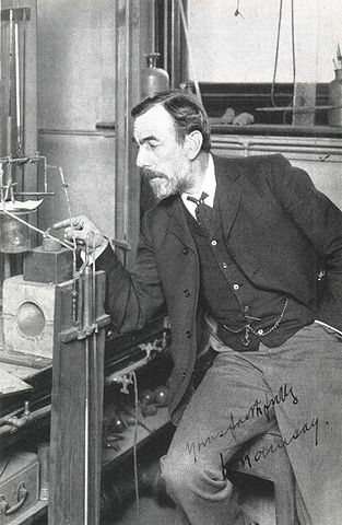 Sir William Ramsay at work